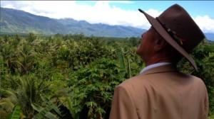 Grandad enjoys the view at Kokoda