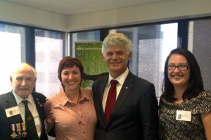 Bede Tongs, Kerrie Phipps, His Excellency Ian Kemish and Dr Genevieve Nelson