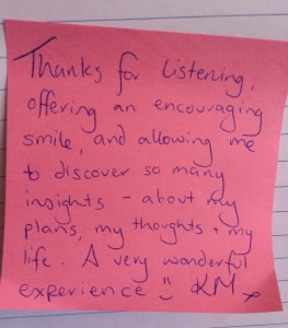 """Testimonial from """"Silent Day"""""""