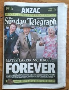 ANZAC 2015 Telegraph