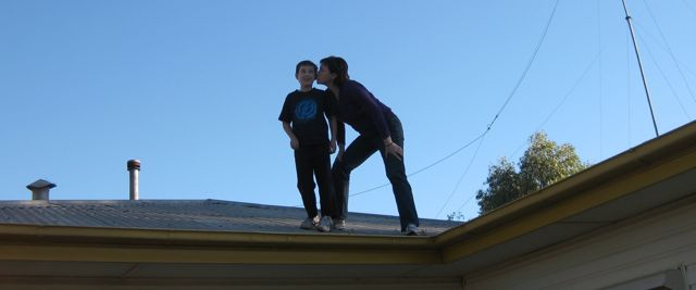 Ethan & Kez on Roof
