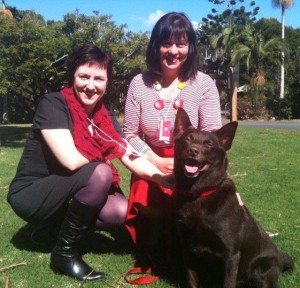 Kerrie Phipps, Jane Pelusey and Red Dog