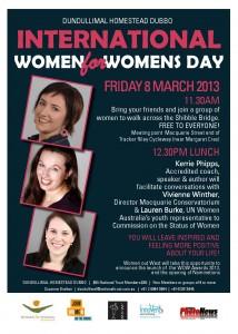 International Women's Day, Dubbo 2013