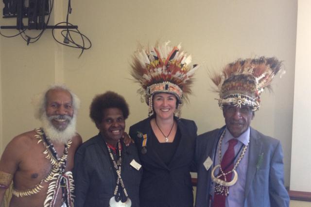 With friends from Kokoda
