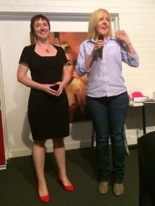 Kerrie with Joy Paddison, Ozfarm
