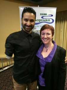 Sam Cawthorn and Kerrie Phipps