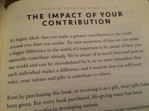 impact of your contribution