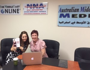 Meeting Naomi at Australian Middle East Media in Bankstown